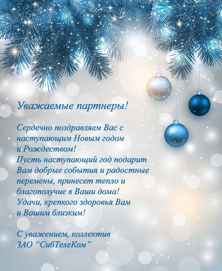 использовании поздравление партнеров с наступающим новым годом в стихах январе кристина ежегодно